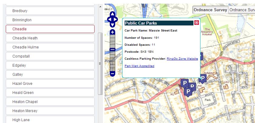 Stockport Council Car Parks