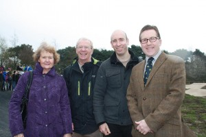 Mark Hunter MP with councillors Pam King, Keith Holloway and Iain Roberts.