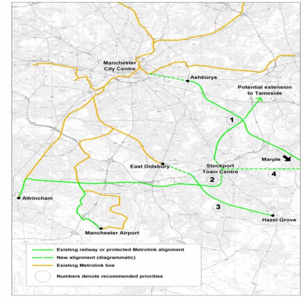 Proposals for new Metrolink lines