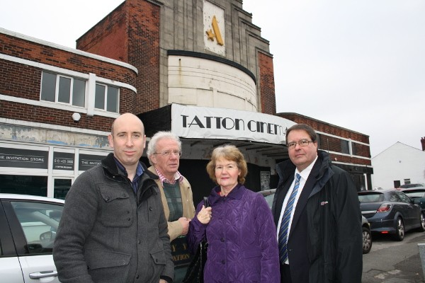 The Lib Dem team at Gatley's Tatton cinema site