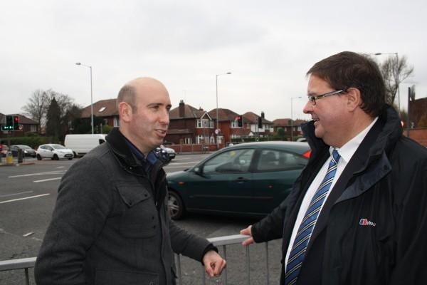 Graham Greenhalgh and Iain Roberts at the Kingsway junction