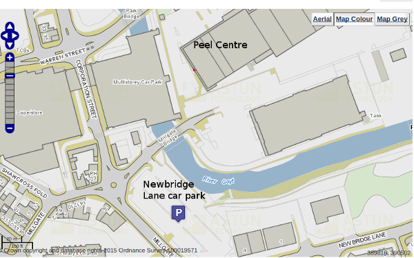 The Newbridge Lane car park is convient for the Peel Centre