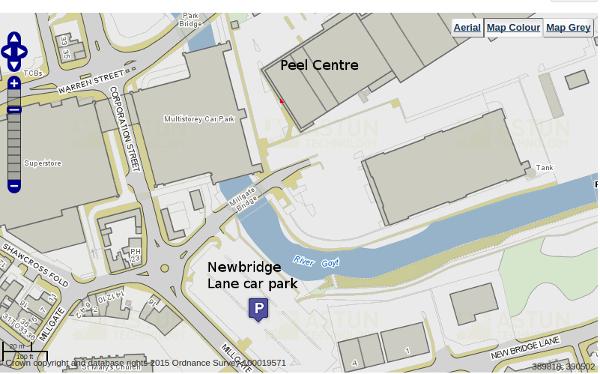 The Newbridge Lane car park is convient for the Peel Centre