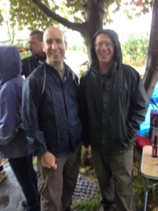 A slightly blurry Keith and Iain by Styal Prison