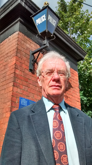 Keith Holloway is fighting against government plans to halve police numbers