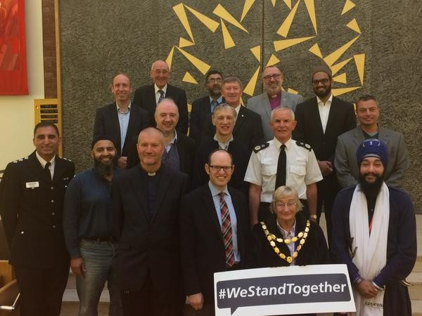 Iain joins members of GMP and faith communities at the Yeshurun synagogue
