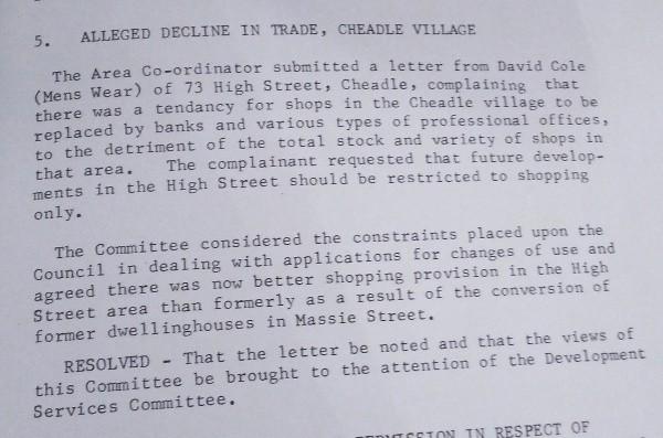 cheadle trade 1974